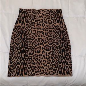 BCBG leopard bodycon skirt